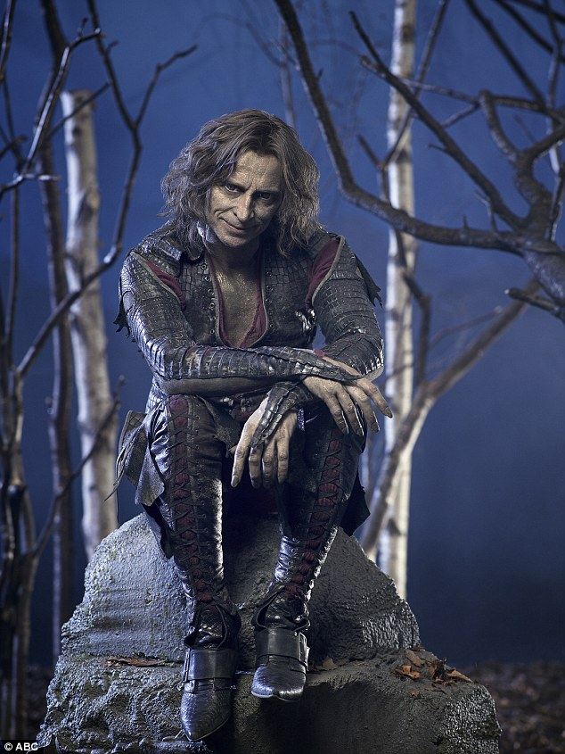 Pictured in character for Once Upon A Time, Rober plays Mr Gold, a version of Rumpelstiltskin