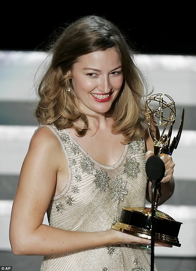 Kelly, pictured winning her Emmy Award for The Girl In The Cafe in 2006, starred in all five series of Boardwalk Empireand appeared in Anna Karenina with Keira Knightley in 2012