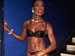 Singer Grace Jones wearing bra and panties.  (Photo by Time Life Pictures/DMI/The LIFE Picture Collection/Getty Images)