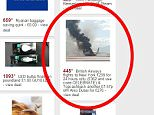 A popular voucher company has been slammed for using this picture of the British Airways plane on fire at Las Vegas - to advertise cheap flights to the USA. See SWNS story SWPLANE; HotUKdeals emailed subscribers with an offer of BA flights to New York for £299 within  hours of news of the terrifying take-off emergency. The deal, which could be activated by using the code 'celebrate', was accompanied by a picture of the Boeing 777-200 engulfed in flames and smoke.  Some of those who got the email quickly took to social media to express their outrage at the use of the image alongside the deal.