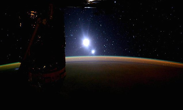 ISS astronaut captures incredible images of Earth, moon AND Venus