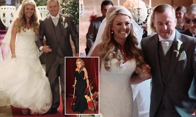 Hollyoaks' Kelly-Marie Stewart defies paralysis to WALK down the aisle