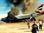 2015/09/09 Picture by Georgie Gillard\n\nPictured: British Airways flight pictured on the tarmac in Las Vegus\nPhoto taken by one of the passengers who was sat in row 32 with his family and uploaded the picture to instagram.\n\nInstagram name: JORDYTHEBEAST1\n\n***Working on identities of passengers of this family***