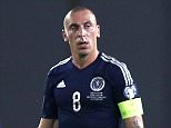 Football - Georgia v Scotland - UEFA Euro 2016 Qualifying Group D - Boris Paichadze Dinamo Arena, Tbilisi, Georgia - 4/9/15  Scotland's James Morrison and Scott Brown (C) look dejected after Georgia score their first goal  Action Images via Reuters / Peter Cziborra  Livepic  EDITORIAL USE ONLY.