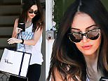 UK CLIENTS MUST CREDIT: AKM-GSI ONLY\nEXCLUSIVE: West Hollywood, CA - A relaxed Megan Fox makes a trip to the Ron Herman boutique today to do a little retail therapy.  After announcing her split to husband Brian Austin Greene, Megan appears to be mending her heart with some shopping.   Megan looked cute in a vintage KISS tank top and workout tights.\n\nPictured: Megan Fox\nRef: SPL1120774  090915   EXCLUSIVE\nPicture by: AKM-GSI / Splash News\n\n
