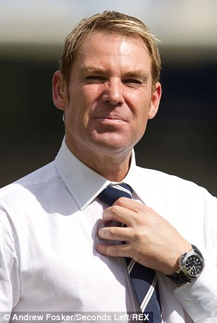 Shane Warne followed a similar trajectory, pictured left during his cricketing career in 2005 and right, following his Liz Hurley inspired makeover in June last year