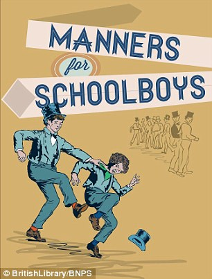 Cover for the recently republished Manners for Schoolboys, rediscovered in the British Library