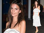 Celebrities attend Day 9 of the US Open in NYC  Pictured: Emily Ratajkowski Ref: SPL1120369  080915   Picture by: Ron Asadorian / Splash News  Splash News and Pictures Los Angeles: 310-821-2666 New York: 212-619-2666 London: 870-934-2666 photodesk@splashnews.com