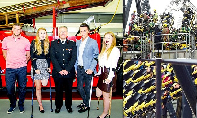 Alton Towers Smiler rollercoaster crash survivors reunited for the first time