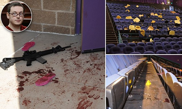 Haunting never-before-seen photos from inside the movie theater where James Holmes