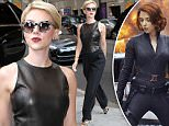 """NEW YORK, NY - SEPTEMBER 09: Scarlett Johansson is seen arriving at """"The Late Show with Stephen Colbert"""" on September 09, 2015 in New York City.  (Photo by Nancy Rivera/Bauer-Griffin/GC Images)"""