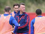 MANCHESTER, ENGLAND - AUGUST 05:  (EXCLUSIVE COVERAGE) Manager Louis van Gaal of Manchester United in action during a first team training session at Aon Training Complex on August 5, 2015 in Manchester, England.  (Photo by John Peters/Man Utd via Getty Images)