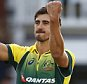 LONDON, ENGLAND - SEPTEMBER 05:  Mitchell Starc of Australia celebrates taking the wicket of Liam Plunkett of England during the 2nd Royal London One-Day International match between England and Australia at Lord's Cricket Ground on September 5, 2015 in London, United Kingdom.  (Photo by Julian Finney/Getty Images)