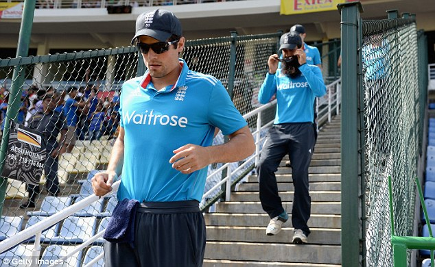 Cook takes the field for what would be a tough day at the office for the England captain in the sixth ODI