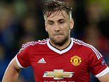 Luke Shaw of Manchester United during the UEFA Champions League play-offs match between Club Brugge and Manchester United on August 26, 2015 at the Jan Breydel stadium in Brugge, Belgium.(Photo by VI Images via Getty Images)