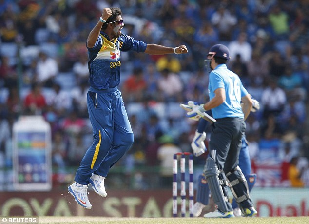 After putting down Sangakkara, who got 112, Cook was out LBW to Sachithra Senanayake for just one