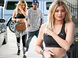 Woodland Hills, CA - Kylie Jenner flaunts her toned stomach and sexy curves as she boyfriend Tyga head to the Topanga Mall to shop.  Kylie and Tyga dropped off a new blue Mercedes Benz G-Wagon off at valet before heading inside.\nAKM-GSI       September  10, 2015\nTo License These Photos, Please Contact :\nSteve Ginsburg\n(310) 505-8447\n(323) 423-9397\nsteve@akmgsi.com\nsales@akmgsi.com\nor\nMaria Buda\n(917) 242-1505\nmbuda@akmgsi.com\nginsburgspalyinc@gmail.com