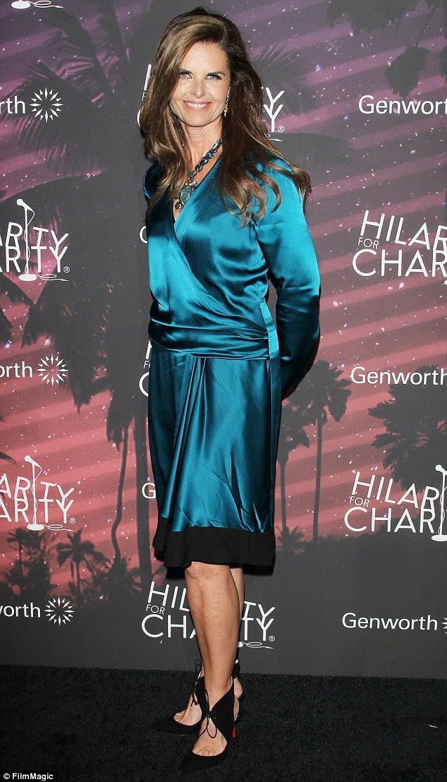 Trying to win over mother perhaps: Miley's wild antics in Miami, Florida apparently did not sit well with Patrick's mom, former First Lady Of California Maria Shriver (pictured October 17)