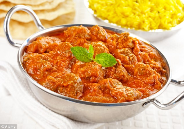 Going Rogan: Going for a tomato-based Indian dish, such as a Lamb Rogan Josh, can keep the calories and levels of saturated fat down