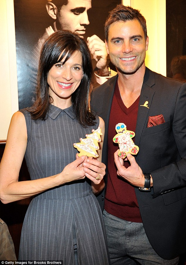 We made these: Perrey and actor Colin Egglesfield got to decorate cookies
