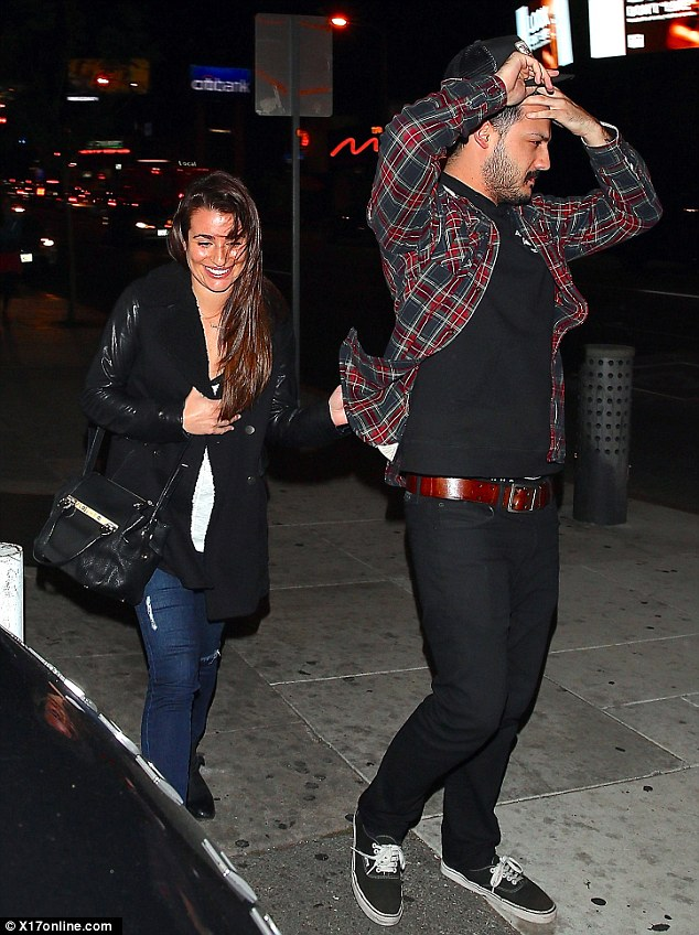 Late night outing: The actress was seen outside the tattoo parlour Shamrock in Hollywood over the weekend