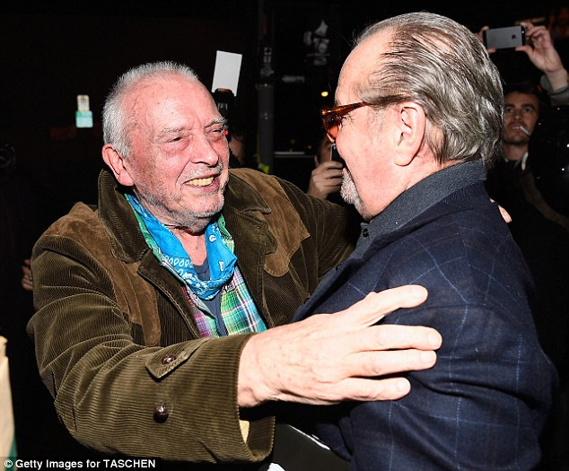 That's gratitude: Mr. Bailey seemed so happy to see the iconic Jack Nicholson