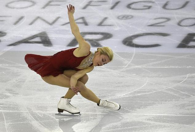 Ashley Wagner performs during the Ladies Free Skating program at the ISU Grand Prix of figure skating Final 2014 in the Barcelona International Convention Ce...
