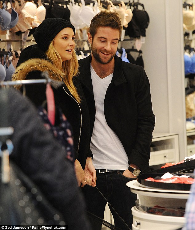 An eyeful: Josh made it clear that he had his favourites within the store as Stephanie carried a basket for a big shop