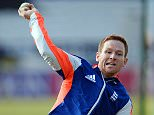 Cricket - England Nets - Headingley - 10/9/15  England's Eoin Morgan during a training session  Action Images via Reuters / Philip Brown  Livepic