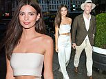 September 10, 2015: Emily Ratajkowski is stunning as she is spotted with her boyfriend Jeff Magid in the Meatpacking District in New York City.  Mandatory Credit: PapJuice/INFphoto.com Ref: infusny-285