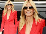 NEW YORK, NY - SEPTEMBER 11:  Heidi Klum is seen around Spring 2016 New York Fashion Week on Day 2 on September 11, 2015 in New York City.  (Photo by Gustavo Caballero/Getty Images)