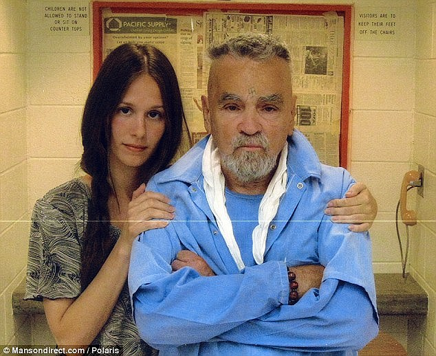 May-December: Burton, who goes by the name 'Star', first met Manson as a teen when she started writing to him behind bars. She moved to Corcoran, California at the age of 18 to be nearer to him