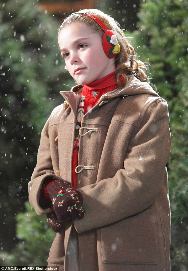 Back in the day: Kiernan in the role which made her globally famous - Sally Draper in ABC's Mad Men