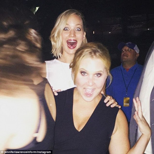 New BFFs: Jennifer and  Amy Schumer struck up an instant friendship after the American Hustle actress emailed the comedian after seeing Trainwreck. They're now writing a movie together