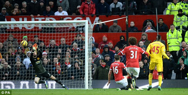 David de Gea denies Mario Balotelli in the second half in what was an impressive display from United No 1