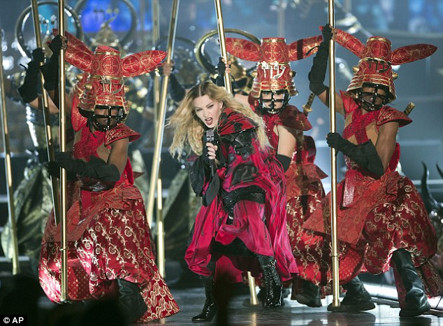 Big bucks:She will be hoping for a successful tour, which can be highly lucrative for artists - her Sticky & Sweet tour in 2008 raked in $408 million, the biggest box office ever for a solo artist