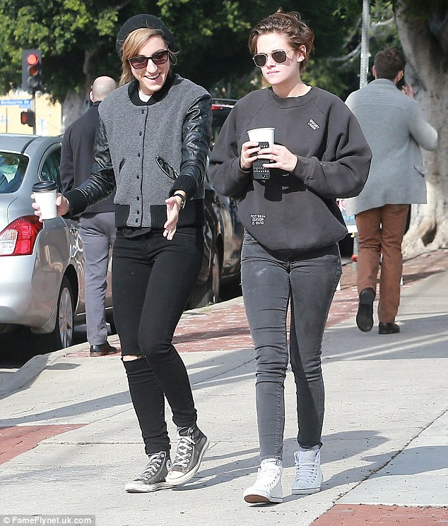 Coffee time: Kristen and Alicia grabbed lunch and a coffee