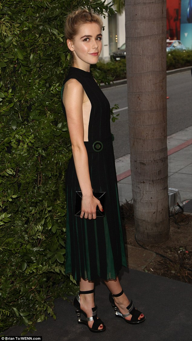 Graceful: Kiernan Shipka is clearly growing up - as she proved when she stepped out at the Salvatore Ferragamo 100 Years In Hollywood celebration on Wednesday