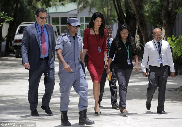 Great danger: Amal has put herself in great danger to fight for human rights, especially considering her high profile