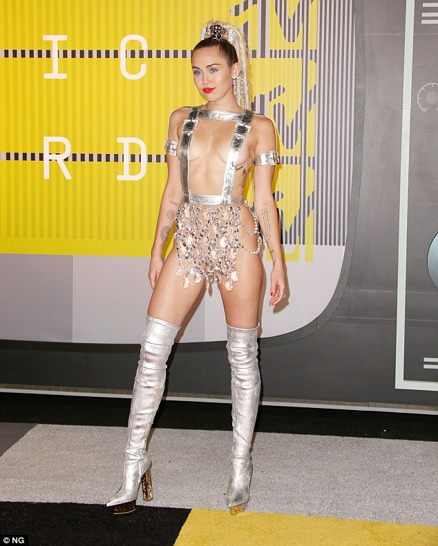 She was a target too: Cyrus, seen here in August at the MTV Video Music Awards, was also on her hit list