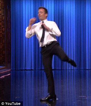 'That tequila is kicking in!' Fallon, 40, shot back before launching into a rendition of The Killers' song Bright Side