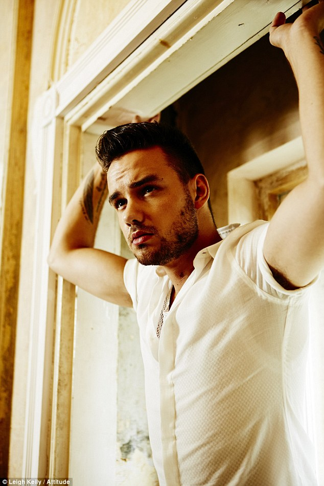 Smouldering: Liam was clearly overjoyed with being feted with the accolade, saying: 'It's a shock but I am very thankful to those who think I deserve this. It's a great title to have'