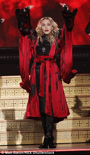 Spanish-inspired: The Vogue hitmaker dressed up in a bullfighter costume for her Rebel Heart tour