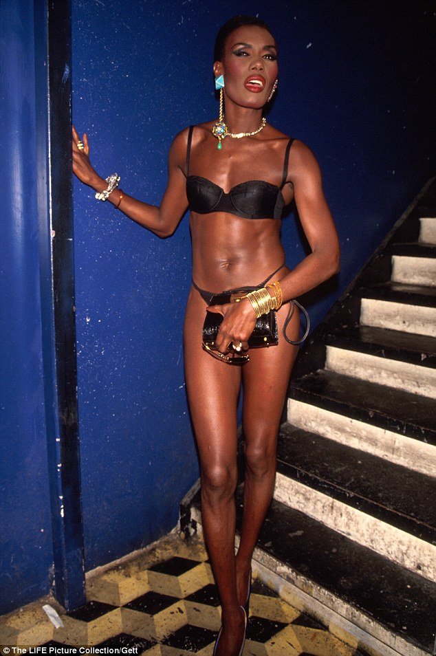 She did it (better) back then: The New York club favorite in her lingerie in 1991