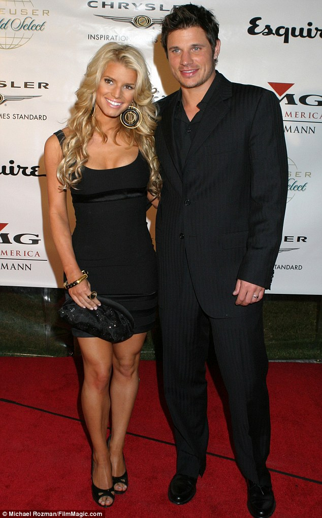 Second thoughts: Jessica was married to Lachey, 41, from 2002 to 2006, pictured in November 2004