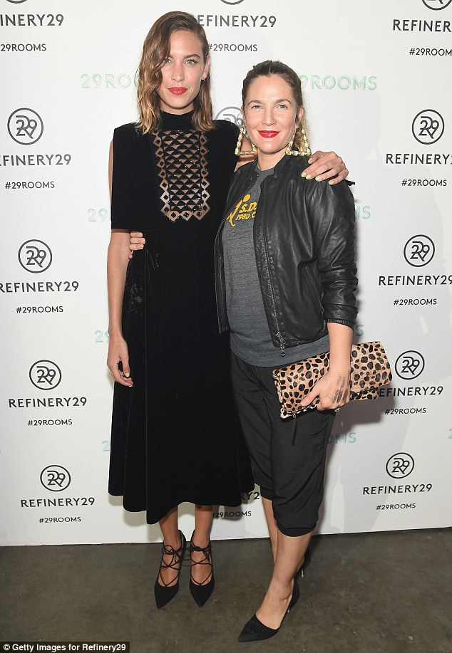 Amiable: The Wedding Singer star warmly welcomed Alexa Chung to the party