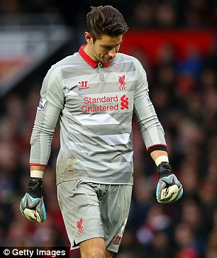 Brad Jones had a game to forget as he let in three goals as Liverpool lost at United