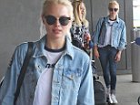 EXCLUSIVE: Margot Robbie spotted arriving to newark Airport today in New Jersey.....Pictured: Margot Robbie..Ref: SPL1120749  100915   EXCLUSIVE..Picture by: Lenny Abbot / Splash News....Splash News and Pictures..Los Angeles: 310-821-2666..New York: 212-619-2666..London: 870-934-2666..photodesk@splashnews.com..