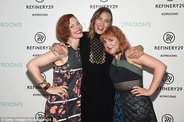 Friends:Christene Barberich, Alexa Chung and Piera Gelardi were all having a marvelous time