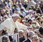 VATICAN CITY - SEPTEMBER 09: Pope Francis rides through the crowds of the faithful as he attends Weekly General Audience at St. Peter's Square on September 09, 2015 in Vatican City. PHOTOGRAPH BY Giuseppe Ciccia  / Pacific Press / Barcroft India UK Office, London. T +44 845 370 2233 W www.barcroftmedia.com USA Office, New York City. T +1 212 796 2458 W www.barcroftusa.com Indian Office, Delhi. T +91 11 4053 2429 W www.barcroftindia.com